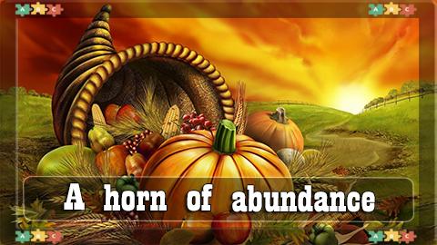 9 A horn of abundance