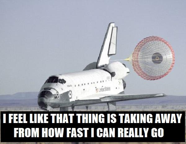 shuttle-parachute